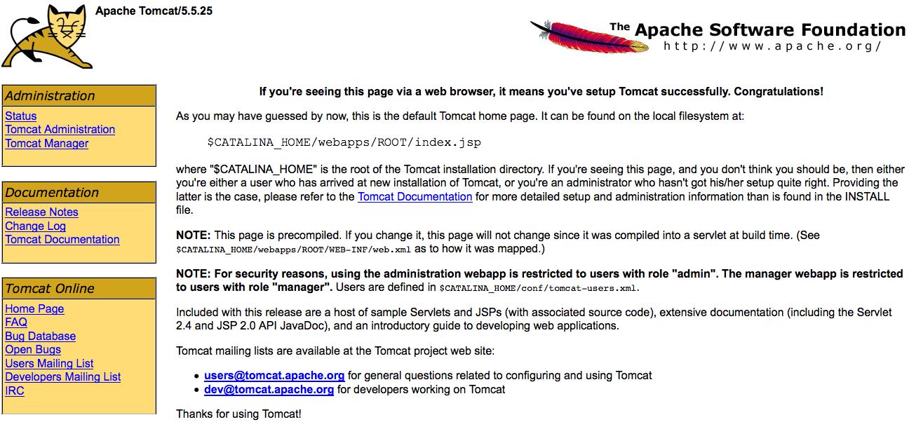 tomcat default page